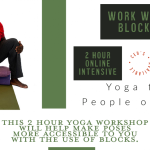 Work with Blocks //  March 21, 11a-1p ET // Accessible Yoga Workshop