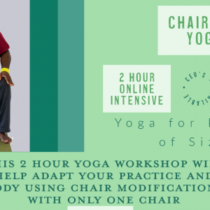 Chairwork Yoga // July 18, 11a-1p ET // Accessible Yoga Workshops